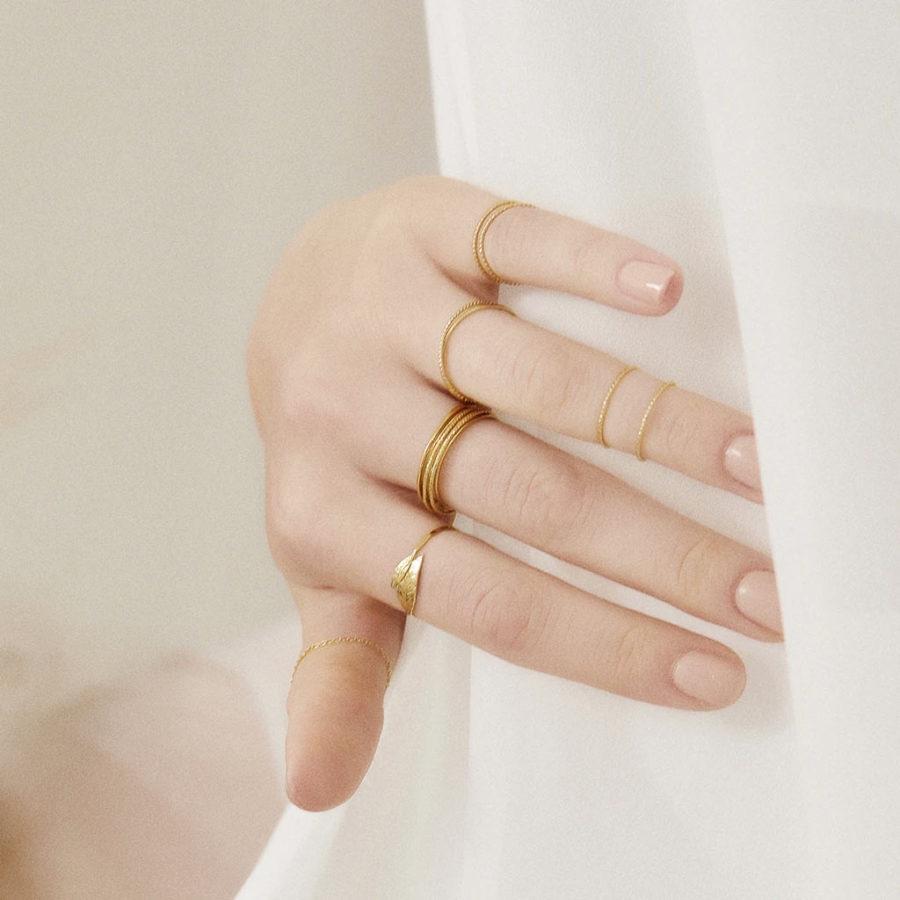bague double anneaux