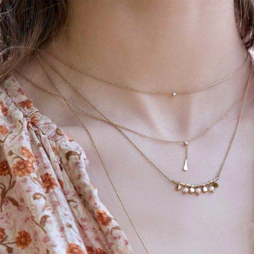 collier chaine et strass