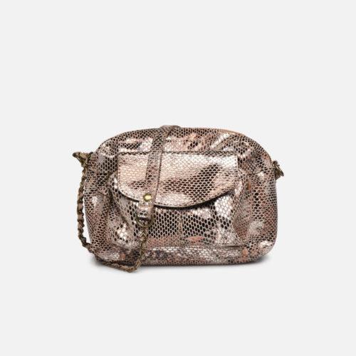 petit sac cuir bandoulière argent