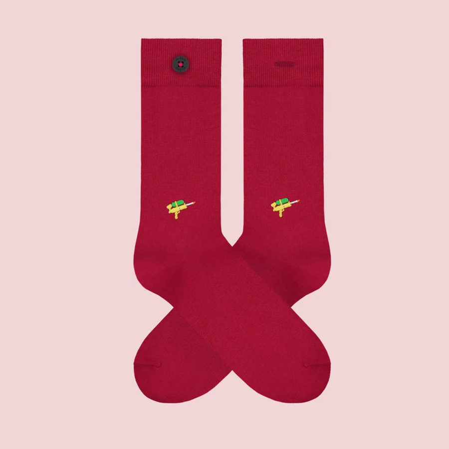 chaussettes homme brodees