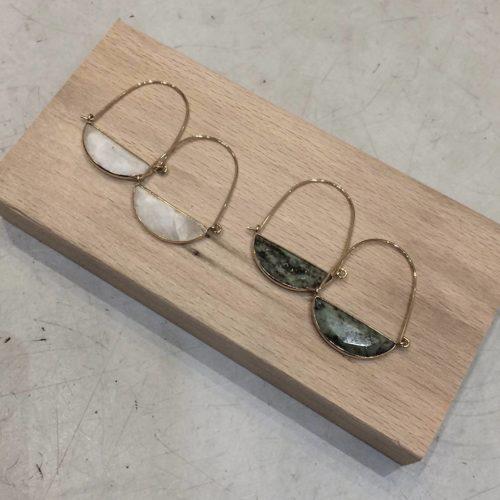 boucles d'oreilles pierre