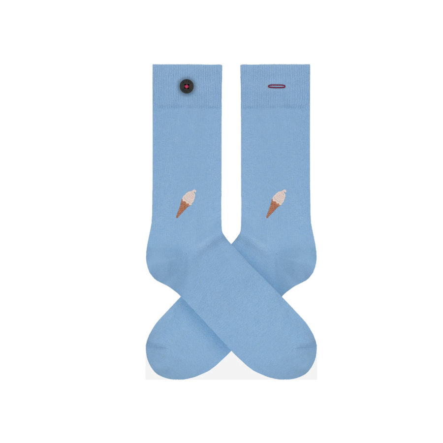 chaussettes brodees homme