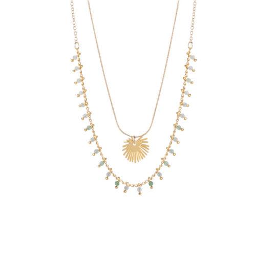 collier double plaqué or