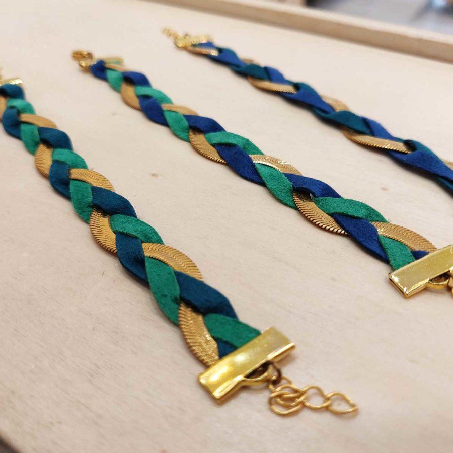 Bracelet tressé fin ginger l'heure d'été