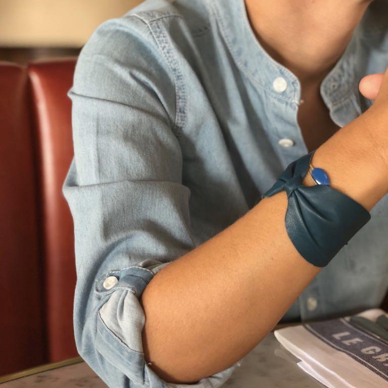 bracelet noeud cuir