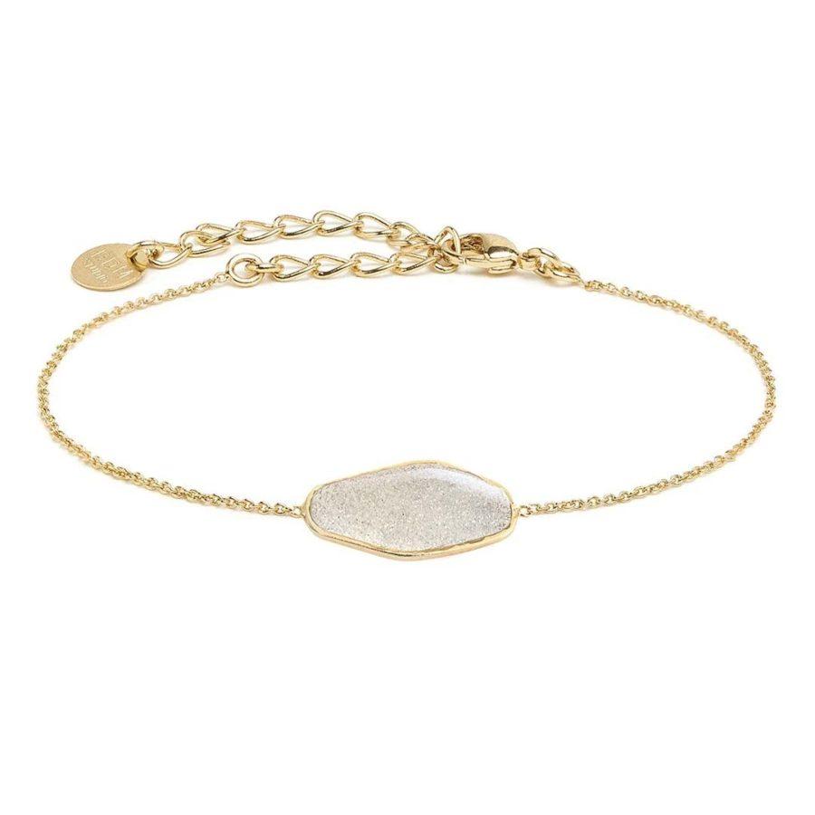 bracelet chaine et pierre