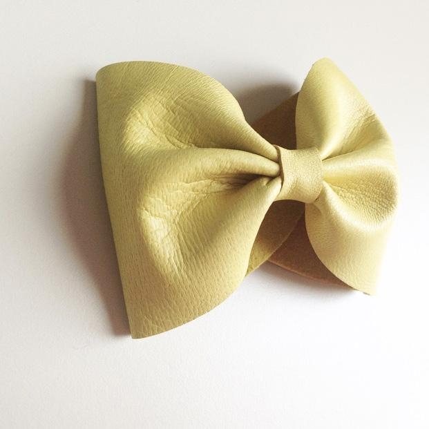 bracelet cuir jaune