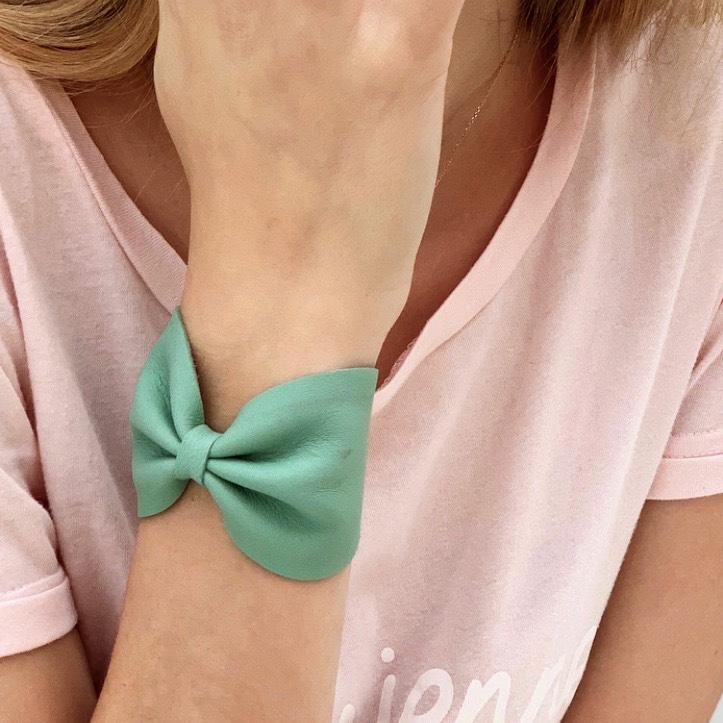 bracelet noeud little madame vert