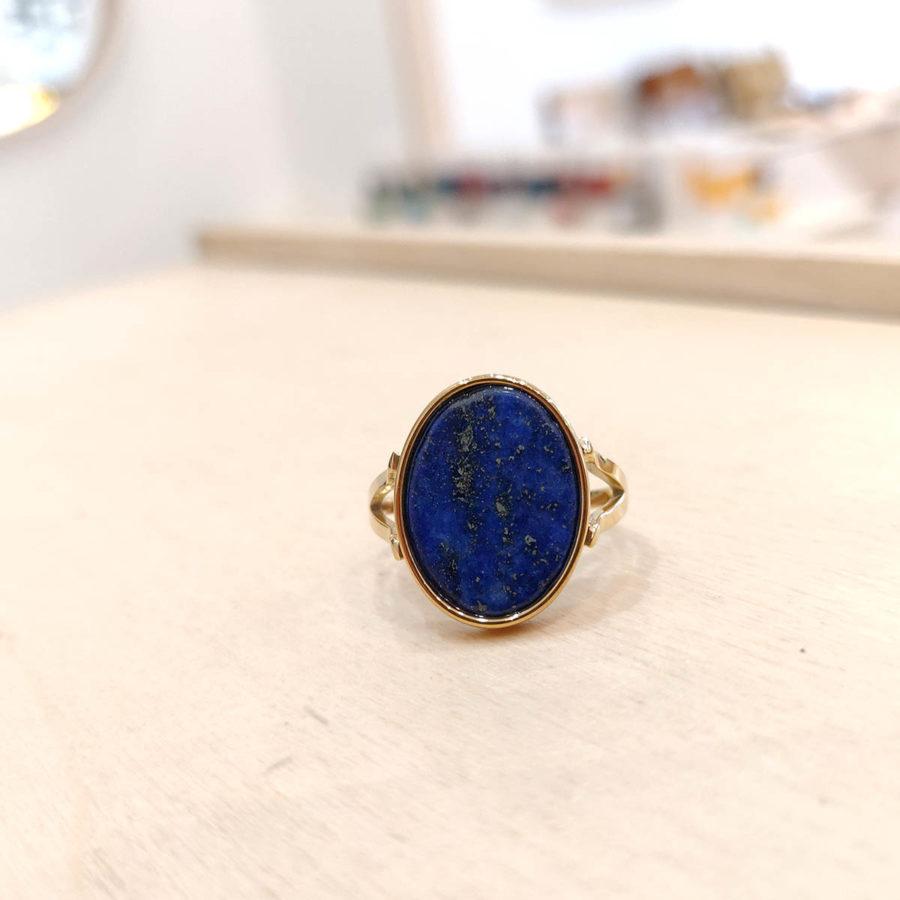 Bague Tâme ovale bleu roi