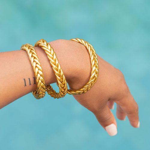 Bracelet KUMALI TRESSÉ Gold Shanshan