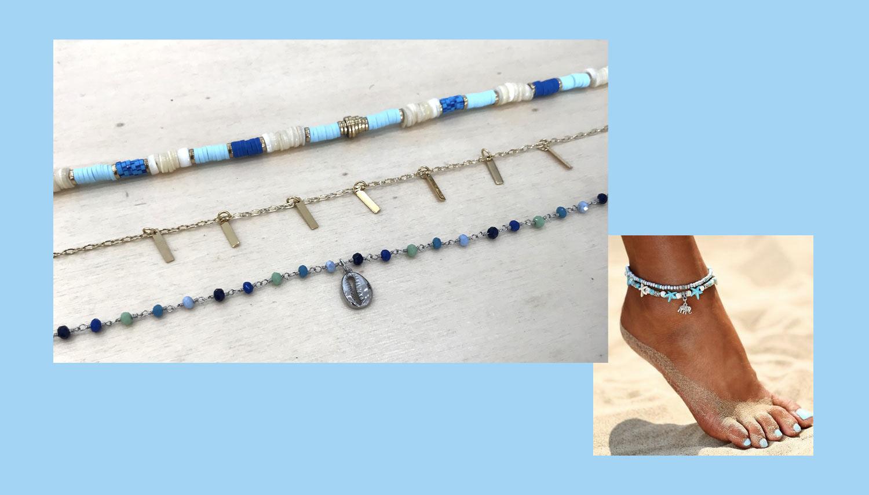 bracelet cheville bijou ete
