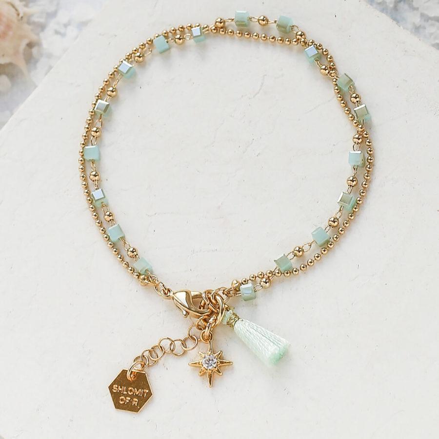 Bracelet MYTHOS bleu shlomit ofir