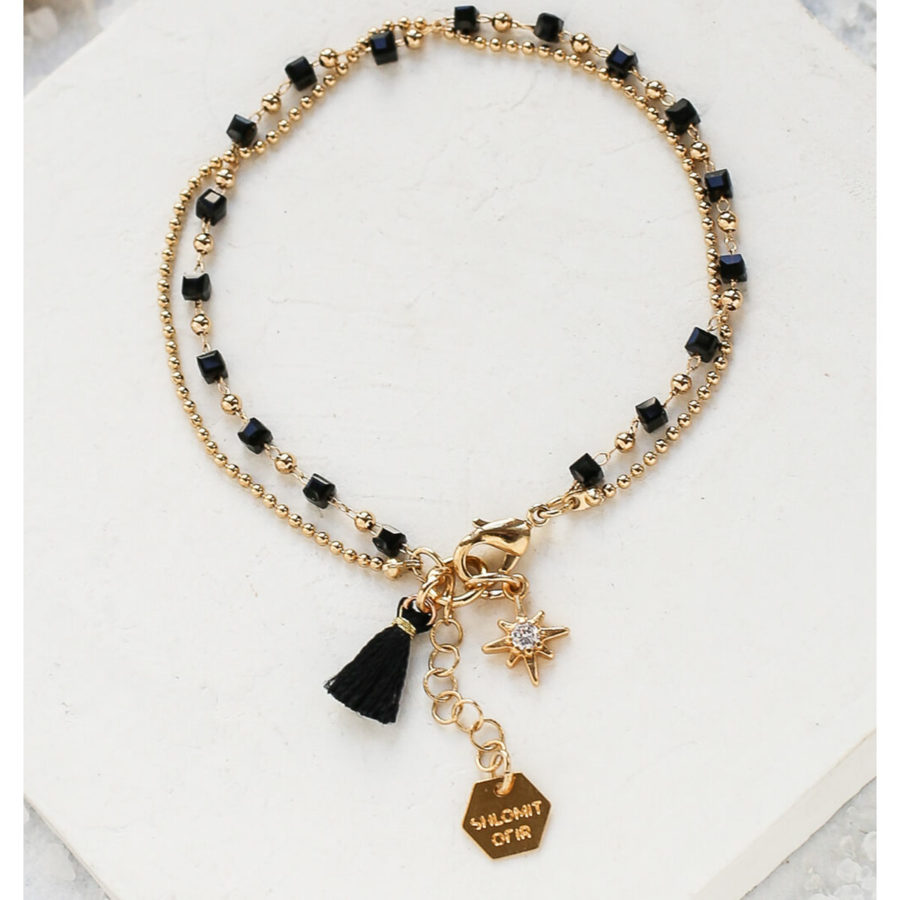 Bracelet MYTHOS noir Shlomit Ofir