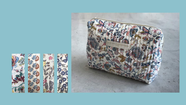 pochette tissu motifs