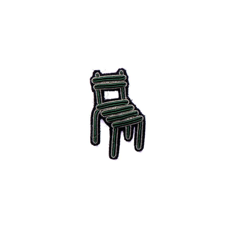 broche brodee chaise de square