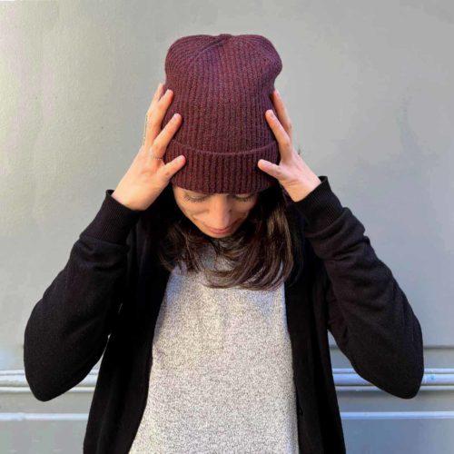 Bonnet DEBBIE red mahogany PIECES