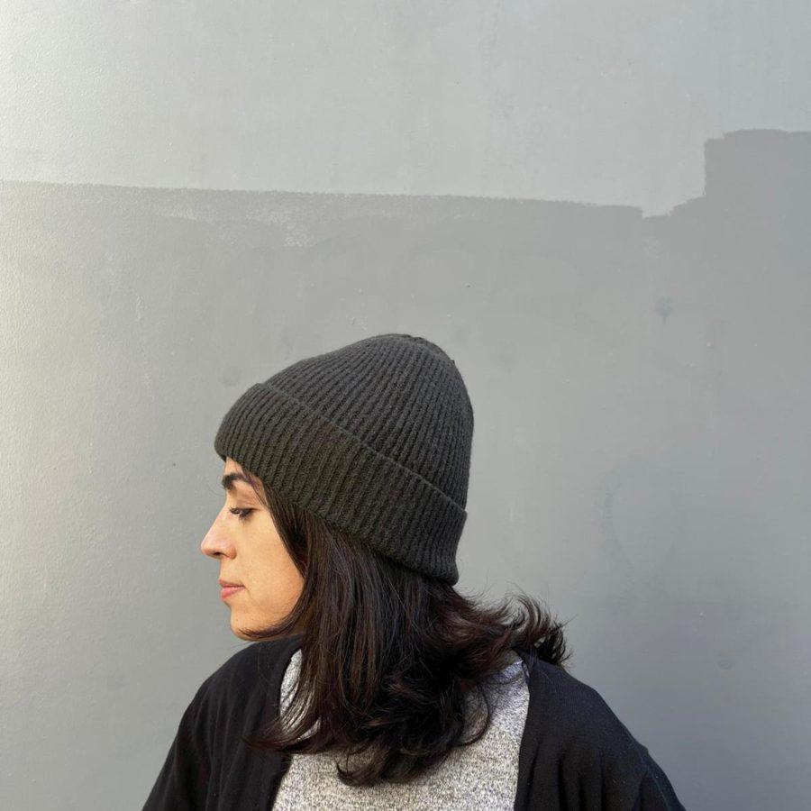 Bonnet DEBBIE black oliva PIECES